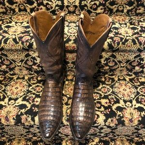Lucchese full cayman alligator boots